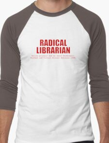Radical Librarian (Red) - Online privacy Men's Baseball ¾ T-Shirt