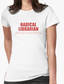 Radical Librarian (Red) - Online privacy Womens Fitted T-Shirt