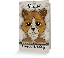 Cat Birthday Card Happy Purrr-thday Greeting Card
