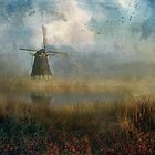 Windmill in the Mist by John Rivera