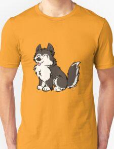 Husky Wuff Black Unisex T-Shirt