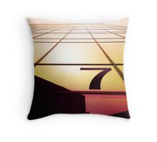 London Number 7 Throw Pillow