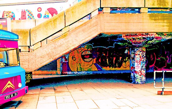 Street art on the South bank, London by will897