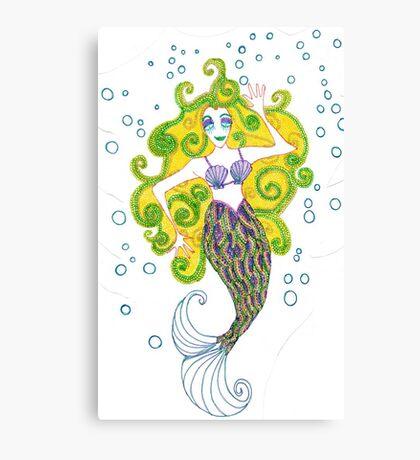 Golden Mermaid Canvas Print