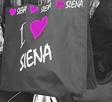 """I Love Siena"" Bag at a Street Vendor in Siena, Italy by will897"