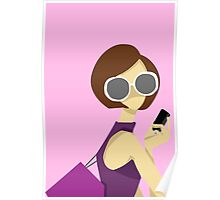Girl in Sun Glasses Poster