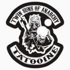 Twin Suns of Anarchy - sticker by TedDastickJr