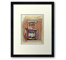 Sherlock's Fire Place Framed Print