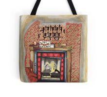 Sherlock's Fire Place Tote Bag