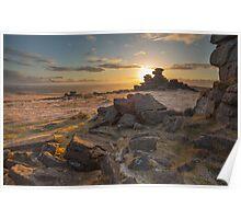 Sunset from Staple Tor Poster