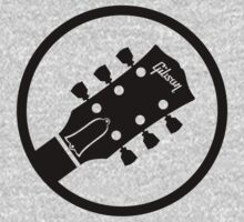 gibson  stylized headstock black Kids Clothes