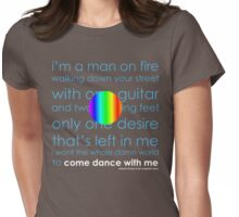 man on fire Womens Fitted T-Shirt