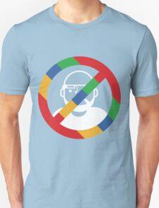 Stop the cyborgs logo (white) T-Shirt
