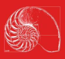 Fibonacci on a nautilus shell Baby Tee