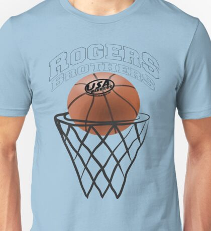 usa warriors basketball by rogers bros Unisex T-Shirt