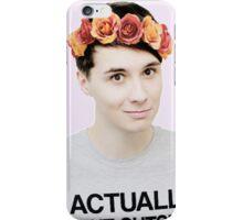 Dan Howell In A Flower Crown iPhone Case/Skin