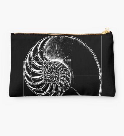 Fibonacci on a nautilus shell Studio Pouch