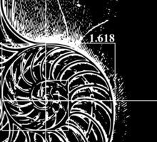 Fibonacci on a nautilus shell Sticker