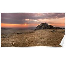 Dartmoor Sunset Poster