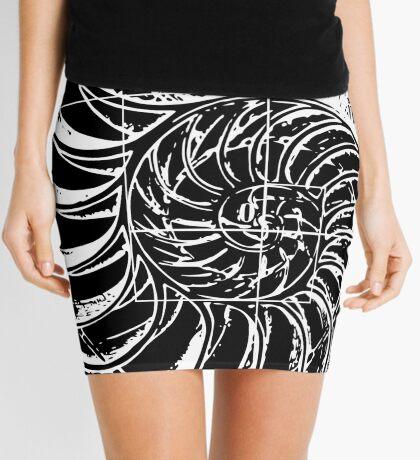 Fibonacci on a nautilus shell Mini Skirt