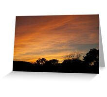 Sunset From Flint Immel Home Greeting Card