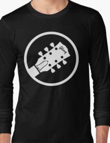 gibson  stylized headstock white Long Sleeve T-Shirt