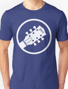 gibson  stylized headstock white Unisex T-Shirt