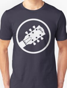 gibson  stylized headstock white T-Shirt