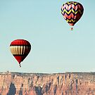 Hot Air Balloon thru Cliffs by amyschuldies