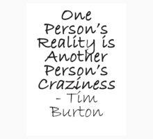Craziness Tim Burton quote by Catinabucket
