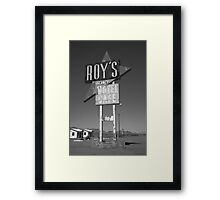 Route 66 - Roy's of Amboy, California Framed Print