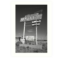 Route 66 - Bluewater Motel Art Print