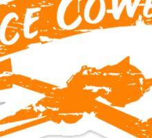Space Cowboy - Distressed Orange Sticker