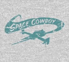 Space Cowboy - Distressed Green T-Shirt