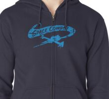 Space Cowboy - Distressed Blue Zipped Hoodie