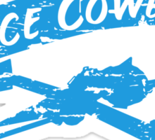 Space Cowboy - Distressed Blue Sticker