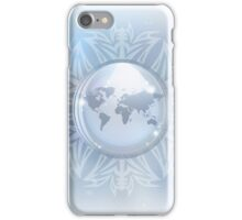 Snow globe with map iPhone Case/Skin