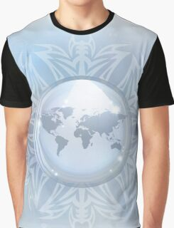 Snow globe with map Graphic T-Shirt