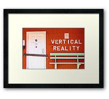 vertical reality Framed Print
