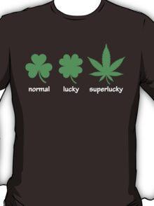 Superlucky Hemp Leaf (white font) T-Shirt