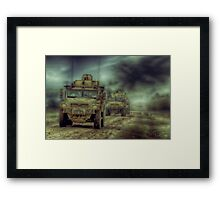 THE PATROL Framed Print