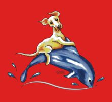 Yellow Lab Dolphin Ride Baby Tee
