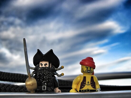Pirate Practice: Sailing with the Captain by bricksailboat