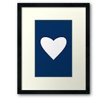 Navy Blue Heart Framed Print