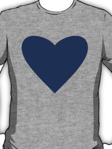 Navy Blue Heart T-Shirt