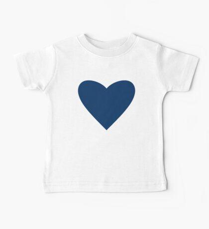 Navy Blue Heart Baby Tee