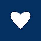 Navy Blue Heart by Mary Nesrala