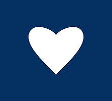 Navy Blue Heart by Mary Nesrala