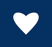 Navy Blue Heart by M Studio Designs