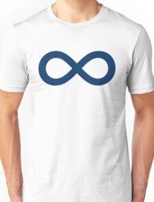 Navy Blue Infinity Unisex T-Shirt